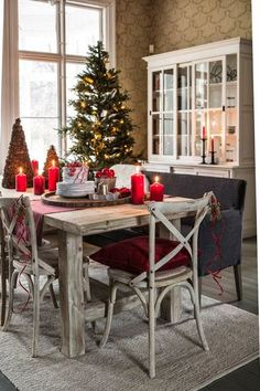 French christmas interior