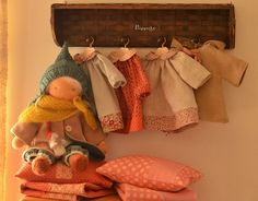 Waldorf doll...and wardrobe! Gorgeous Waldorf clothes and bedding inspiration.