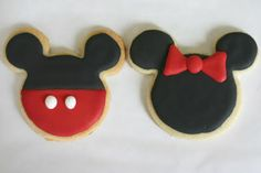 Mickey & Minnie sugar cookies