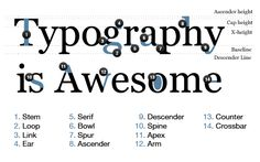 Anatomy of Type: very interesting site, check out the links at the bottom too