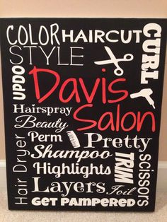 Hey, I found this really awesome Etsy listing at https://www.etsy.com/listing/178350786/custom-canvas-hair-stylist-salon-subway