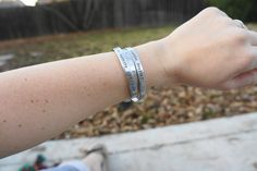 You Get Stronger. Military quote. deployment bracelet. usmc army navy usaf marine corps. $20.00, via Etsy.