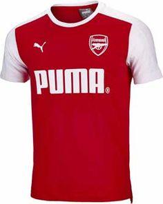 f32f22ef54d Puma Arsenal Puma Tee - High Risk Red   White