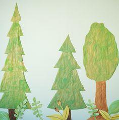 A DIY Woodland Backdrop | Oh Happy Day!