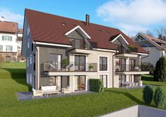 © STOMEO Visualisierungen - Zürich Style At Home, 3d Modelle, Mansions, House Styles, Home Decor, Architecture Visualization, Real Estates, Floor Layout, Photo Illustration