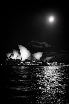 Sydney, Australia. Never seen a black and white opera house before. It works.