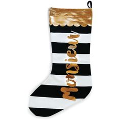 Rosanna Monsieur Stocking (€18) ❤ liked on Polyvore featuring home, home decor, holiday decorations, multi, holiday decor and holiday home decor