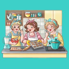 Bubbly girls, big girls, mollige meiden, kitchen, cooking, keuken, koken en bakken Pictures To Paint, Print Pictures, Abraham And Sarah, Reset Girl, Plus Size Art, Art Impressions Stamps, Atc Cards, Romantic Pictures, Girls In Love