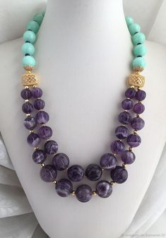 Beading is among the most popular specific niches in jewelry making and rightfully so. It takes a lot of abilities and perseverance in order to make intricate and imaginative pieces from simply a bunch of beads and string. Bead Jewellery, Beaded Jewelry, Jewelery, Jewelry Necklaces, Soutache Jewelry, Gemstone Necklace, Beaded Necklace, Handmade Necklaces, Handmade Jewelry