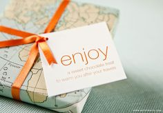 Use old maps as wrapping paper
