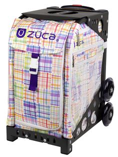 PATCHWORK ZUCA BAG With soft pastels in a pretty, pieced-together pattern, this friendly design feels like a home--wherever you are.