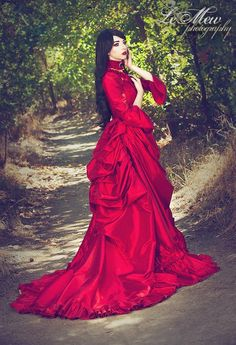 581bd5617ac Items similar to Mina Dracula Victorian Bustle Gown Costume Wedding  Halloween Gothic Custom Gown any Color on Etsy