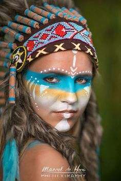 Image result for face painting indian