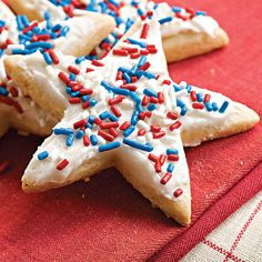 Recipe: Frosted Sugar-'n'-Spice Cookies   SouthernLiving.com   #4thofJuly