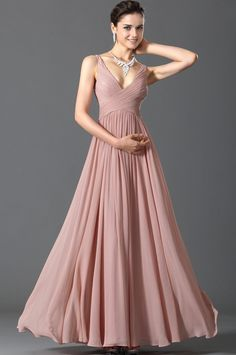 ChiffonV-neck A-line Floor-length Evening Dress