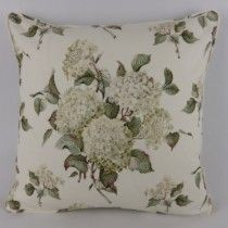 Green Hydrangea Floral Cushions