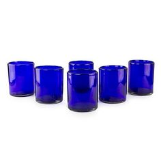 Tumblers, 'Cobalt Dreams' (set of 6). Shop from #UNICEFMarket and help save the lives of children around the world.