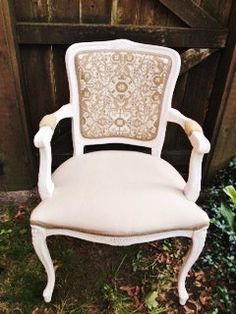 French Antique Bergere Chair by antique2chic on Etsy