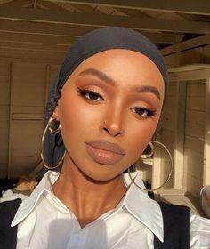 Maquillage Black, Maquillage On Fleek, Glam Makeup Look, Cute Makeup, Casual Makeup, Gorgeous Makeup, Make Up Looks, Brown Skin Makeup, Orange Makeup