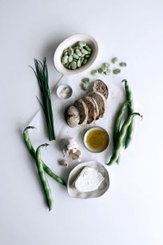 Fresh Ricotta with Broad Beans & Rye Sourdough Breadcrumbs  /  Gather & Feast