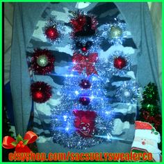 Check out this item in my Etsy shop https://www.etsy.com/listing/253481661/snowcamo-light-up-ugly-christmas-sweater