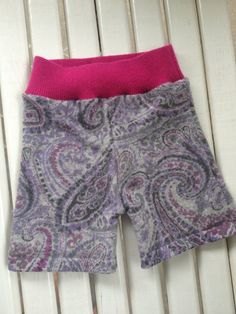 Medium Upcycled Paisley Cashmere Wool Soaker Shortie Cloth Diaper Cover on Etsy, $20.00