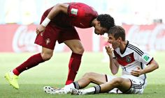 Portugal's Cristiano Ronaldo outshone by Germany's Thomas Müller Portugal, Fifa 2014 World Cup, Germany Vs, Word Cup, Thomas Muller, People News, Usa Today Sports, Cristiano Ronaldo, Football Players