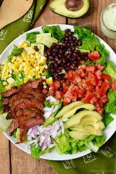 Southwestern Steak Salad with Jalapeño Ranch Dressing