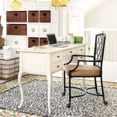 Genevieve Desk | Ballard Designs - but something deeper since I'll need the surface for my crafts!