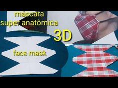 Nova máscara 3D super anatômica. Costurada a mão - YouTube Diy Sewing Projects, Sewing Tutorials, Sewing Patterns, Easy Face Masks, Diy Face Mask, Chevron Purse, Crochet Mask, Sewing Room Organization, Diy Mask