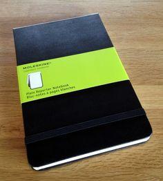 Classic: Moleskine reporter notebook