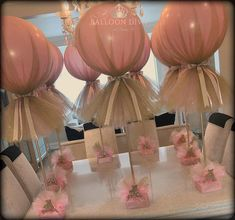 💖Bespoke Gold Glitter & Pink Tulle Balloon Centrepiece & Monogram💖 Source by with tulle Balloon Centerpieces, Balloon Decorations Party, Baby Shower Centerpieces, Birthday Decorations, Wedding Decorations, Quinceanera Decorations, Ballon Party, Deco Ballon, Tulle Balloons