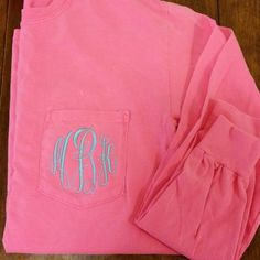 Monogrammed Comfort Color Pocket Tee by The Initialed Life
