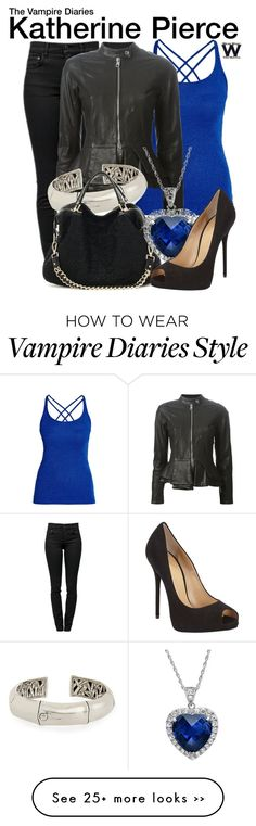 """""""The Vampire Diaries"""" by wearwhatyouwatch on Polyvore featuring Morgan, Proenza Schouler, Emporio Armani, John Hardy, Giuseppe Zanotti, television and wearwhatyouwatch"""