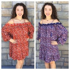Which color is your favorite? We couldn't decide we love both!!  {Oversized Floral Dress $35.50|| Beljoy Lei $10|| Beljoy Leather Wrap $22}    Comment below with PayPal to purchase and ship or comment for 24 hour hold  #repurposeboutique#loverepurpose#hipandtrendy#shoprepurpose#boutiquelove#style#trendy#fall#jewelry#artisan#lovebeljoy
