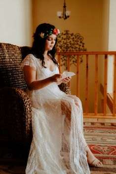 Stuning Bianca werring Barzelai wedding dress for her perfect boho wedding day. #weddingdress #bohoweddingdress #barzelaibride #bohobride