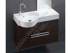 Hatria A-Wood 90 Mobilier lavoar Pin inchis 90x35xH50 cm Sink, Vanity, Bathroom, Home Decor, Sink Tops, Dressing Tables, Washroom, Vessel Sink, Powder Room
