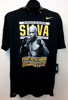 Anderson Silva Nike T-Shirt Fight With Honor NEW/NWT Asst Sizes Dri-Fit UFC MMA #Nike
