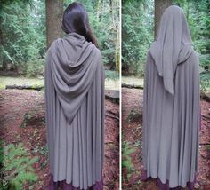this is the general concept I used for the red riding hood cloak I made; but I gathered the pointy part. I think I'm going to make a more rounded hood for the boys.