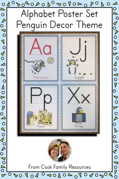 Educational classroom decor that your penguin loving students will be talking about - This set offers the vowels in Red or Black so that you can customize your alphabet set to meet your needs.  #classroomdecor #ABCs #posters #alphabet #kindergarten #penguins