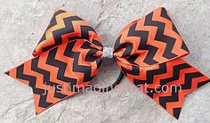 2.25 Width Cheer Bow 6x6 Jumbo Size Cheer by JustImagineThatBows
