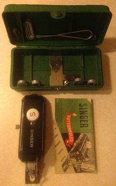 Singer Featherweight 221-1948 Sewing Machine Attachment-BUTTONHOLER 160506 1948