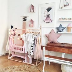 Not so much pink for us... but I need that clothes rack!!