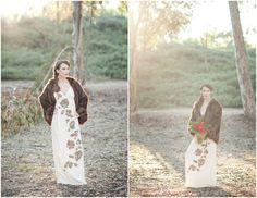 Rustic Winter Bride #winterweddings #rusticwinterweddings