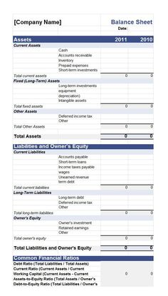 Asset And Liability Statement Template Darrell Johns Darrell_Johns On Pinterest
