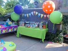 Cute Little Monster's Birthday Party Ideas | Photo 4 of 38 | Catch My Party