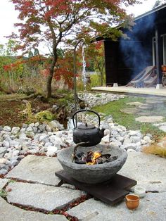 木村博明 株式会社木村グリーンガーデナー の ファイアーピット&バーベキュー 移動できる庭囲炉裏