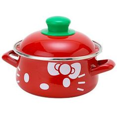 hello kitty piot - itd go nicely with the hello kitty kettle im after ! Hello Kitty Kitchen, Hello Kitty House, Hello Kitty Items, Sanrio Hello Kitty, Miss Kitty, Hello Kitty Collection, Kawaii, Girl House, Little Twin Stars