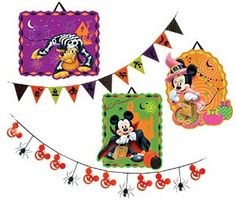 disney halloween party decoration kit i just love the tiny spiders and pumpkin mickey mouses