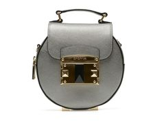 Poseta gri argintiu din piele naturala Leather Backpack, Backpacks, Metal, Bags, Fashion, Purses, Moda, Leather Book Bag, Fashion Styles